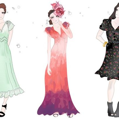 Three sketches from Lily Allen's forthcoming pre-fall collection.