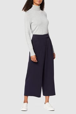 Amazon Brand - find. Women's Cropped Linen Trousers