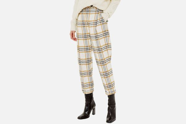 Topshop Three Button Tapered Trousers