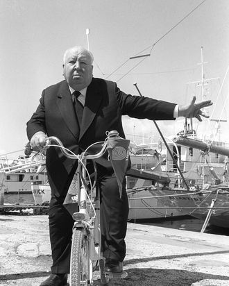 English director Alfred Hitchcock