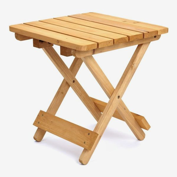 Square Folding Wooden Garden Table