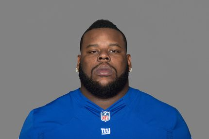 FILE - This 2012 file photo shows New York Giants defensive tackle Shaun Rogers. The Giants defensive tackle is being treated for a blood clot in his left calf. The Giants announced Tuesday, Aug. 14, 2012 that the 12-year veteran was seen by orthopedic surgeon Russell Warren and vascular surgeon John Karwowaki on Monday at the Hospital for Special Surgery in New York. (AP Photo/File)