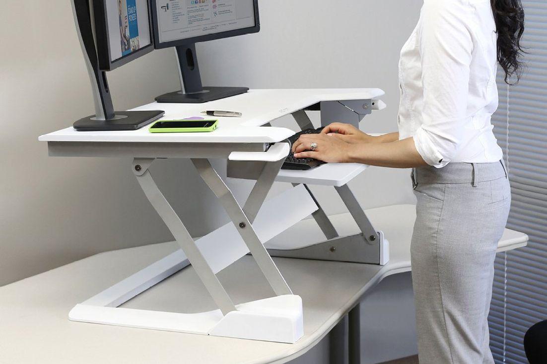 """Ergotron WorkFit-T, Sit-Stand Desk Converter, White, 35"""""""