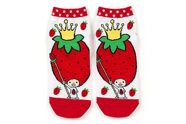 Sanrio Strawberry King Adult Sneaker Socks
