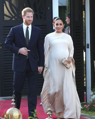 d4839f6d31cde Meghan Markle Wears Gorgeous Dior Gown in Morocco