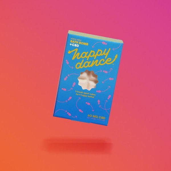 Happy Dance Stress Away CBD Bath Bomb, 60 mg