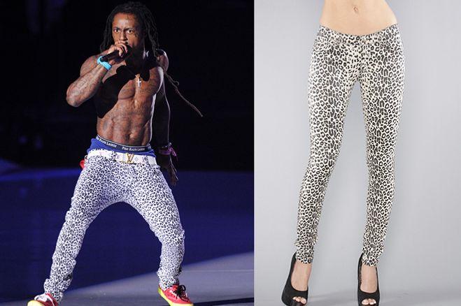 Lil Wayne and his pants.