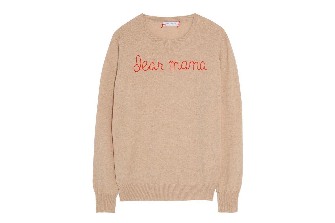 Lingua Franca Dear Mama Sweater
