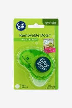 Glue Dots Removable Dot N' Go Dispenser With 200 Removable Adhesive Dots