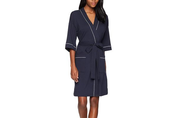 Mae Women's French Terry Kimono Knee-Length Robe