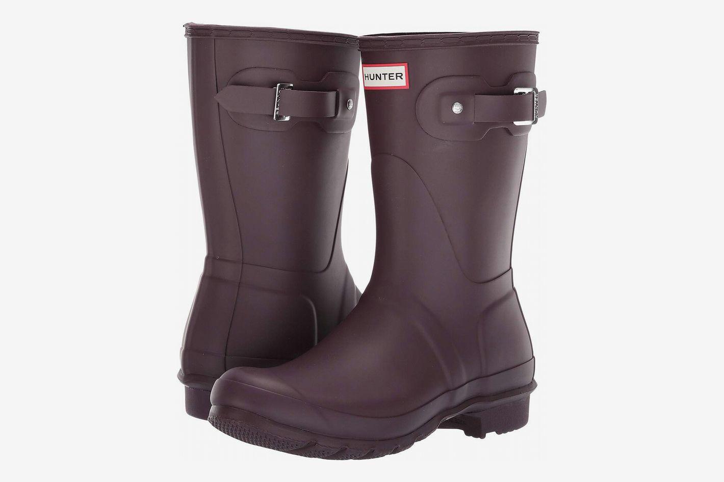 Hunter Original Short Rain Boot (Women), Black Grape