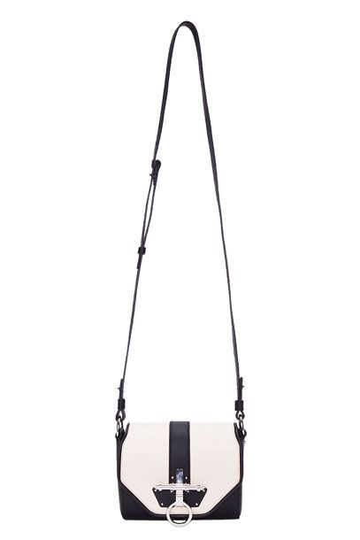 "$1,600 at <a href=""http://www.ssense.com/women/product/givenchy/two_tone_obsedia_evening_bag/51777"">SSENSE</a>."