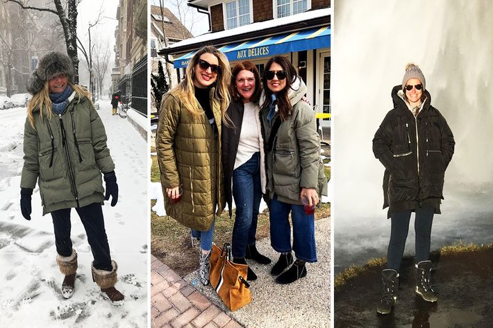 36d6f6a69e33 Fernanda Niven's sister Eugenie; Lauren Epstein (far right); and Jessica  Reich, accidental trend-starter.