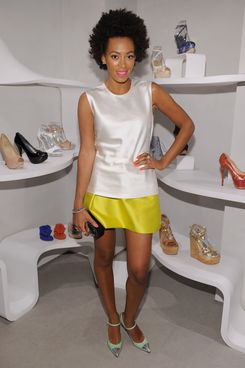 NEW YORK, NY - MARCH 28: Solange Knowles attends The Man Repeller event at Stuart Weitzman Boutique on March 28, 2012 in New York City.  (Photo by Dimitrios Kambouris/WireImage for Stuart Weitzman)