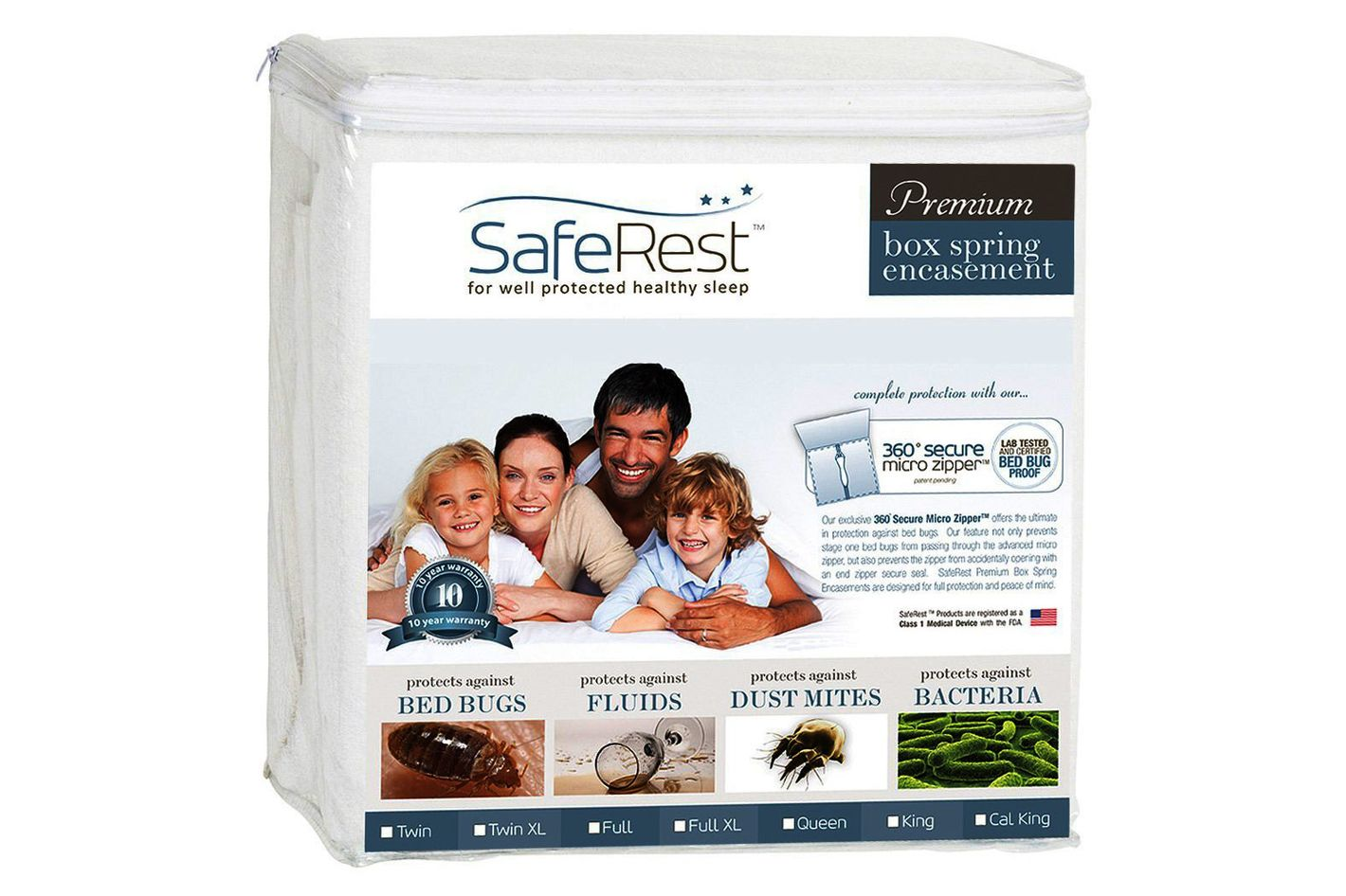SafeRest Premium Box Spring Encasement — Queen Size