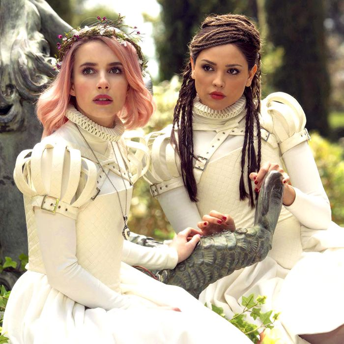 Emma Roberts and Eiza González in Paradise Hills.