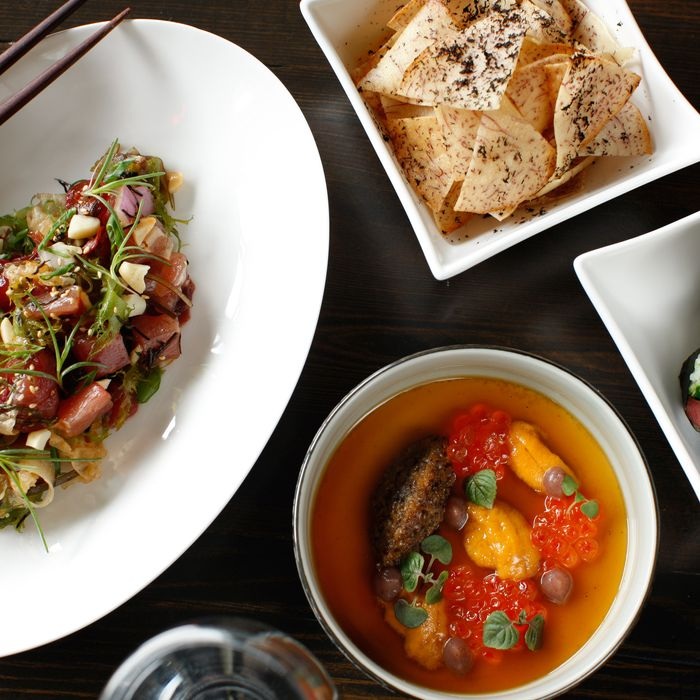 An assortment of chef Chung Chow's dishes.