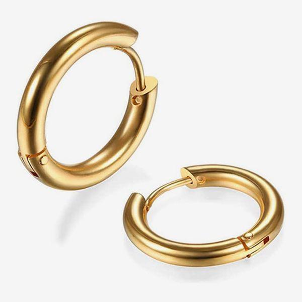 Surgical Stainless Steel Huggie Hoop Earrings