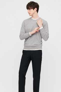 Uniqlo Men's Cashmere Crewneck Long-Sleeve Sweater
