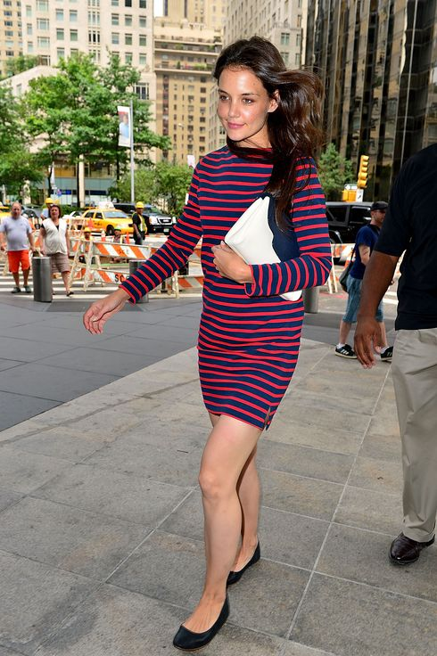 Katie Holmes visits Time Warner Center on July 14, 2012 in New York City.