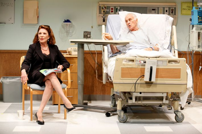 "In this theater image released by Sam Rudy Media Relations, Dick Latessa, right, and Linda Lavin are shown in a scene from Nicky Silver's play  ""The Lyons,"" at the Vineyard Theatre in New York. (AP Photo/ Sam Rudy Media Relations, Carol Rosegg)"