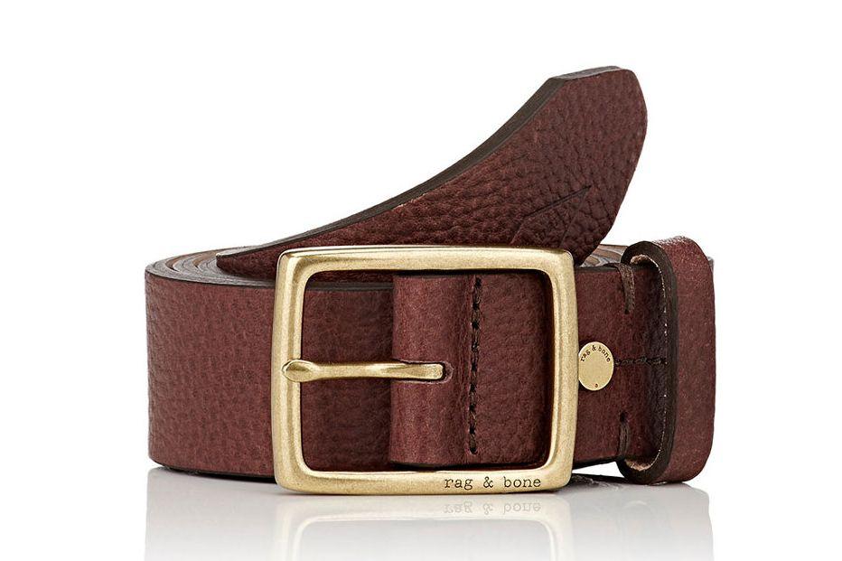 Rag & Bone Pebbled Leather Belt