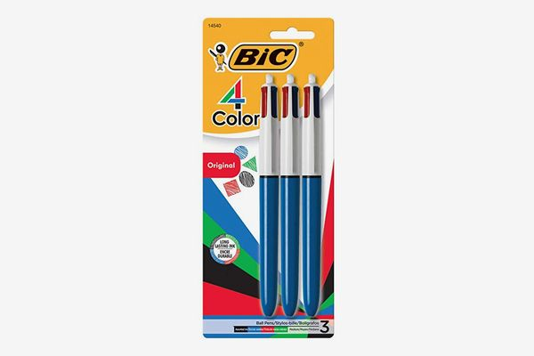 BIC 4-Color Ballpoint Pen, 3 Count