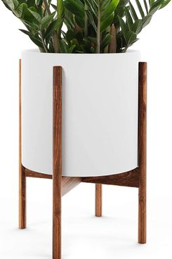 OMYSA Mid-Century Plant Stand With Pot Included (10
