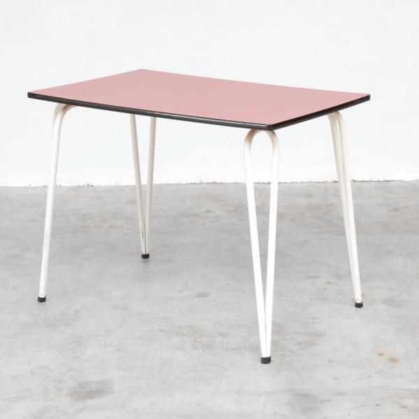 Vintage Red Formica Dining Table