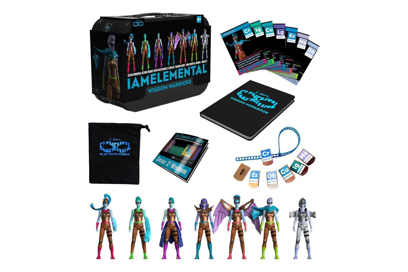 IAmElemental Series 2/Wisdom Complete Set of 7 Female Action Figures