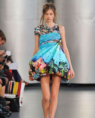 A look from Katrantzou's spring 2012 collection that will cost £350.