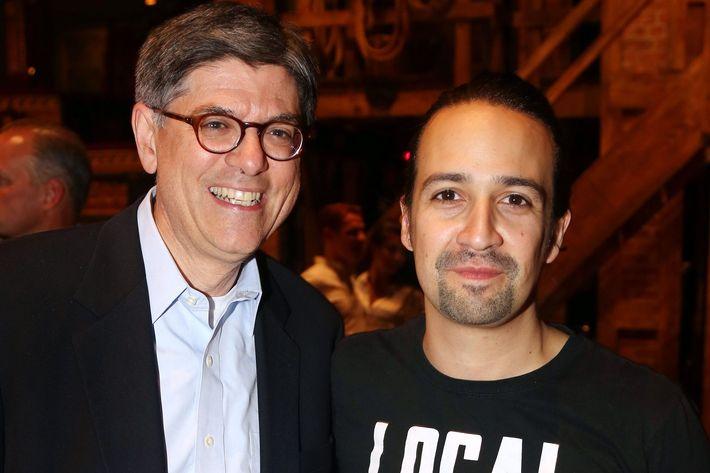 "United States Secretary Of The Treasury Jack Lew Visits Broadway's ""Hamilton"" - August 26, 2015"