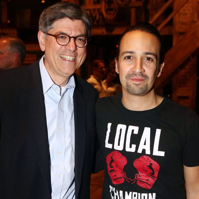 United States Secretary Of The Treasury Jack Lew Visits Broadway's