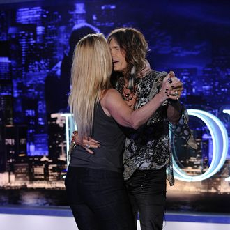 AMERICAN IDOL: Steven Tyler dances with on AMERICAN IDOL airing Wednesday, Jan. 18 (8:00-10:00 PM ET/PT) on FOX.
