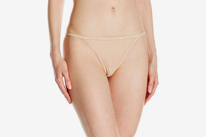 f851b2751f Calvin Klein Women s Sheer Marquisette Thong String Panty at Amazon