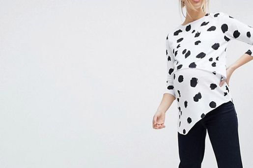 ASOS Maternity Nursing Asymmetric Top With Double Layer