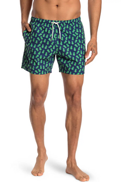 Bermies Swim Shorts, Pineapple 3.0 Print