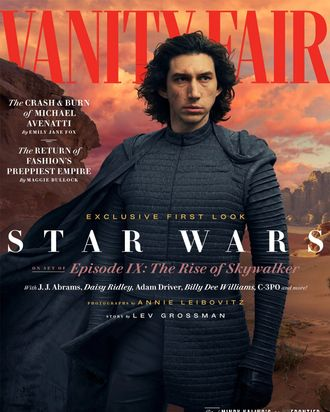 Adam Driver on the cover of Vanity Fair.