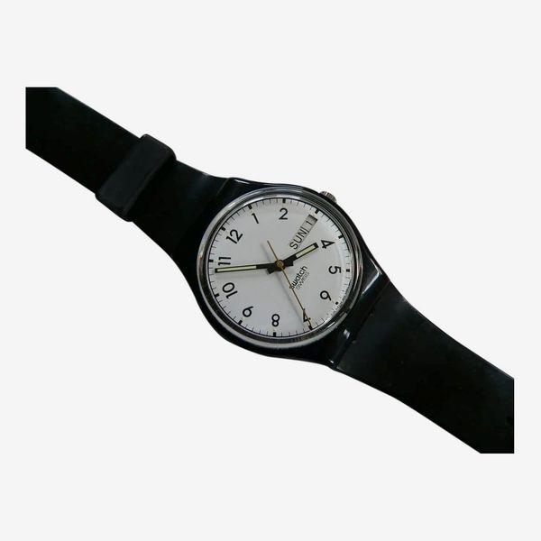Swatch Classic Quartz Silicone Strap Watch