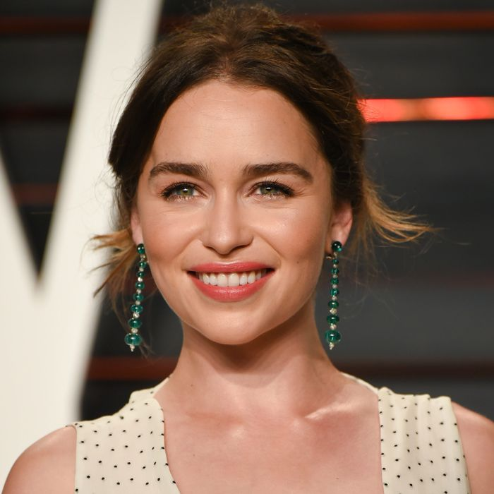 All hail emilia clarke our thirstiest celebrity daenerys stormborn mother of dragons and possessor of lengthy honorifics is one of tvs larger than life characters yet offscreen actress emilia clarke m4hsunfo