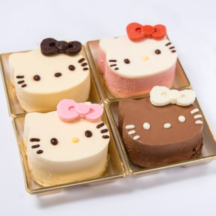 A four-pack celebrating diversity, Hello Kitty–style.