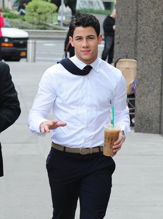 NEW YORK, NY - APRIL 30: Nick Jonas sighting on April 30, 2012 in New York City. (Photo by Alo Ceballos/FilmMagic)