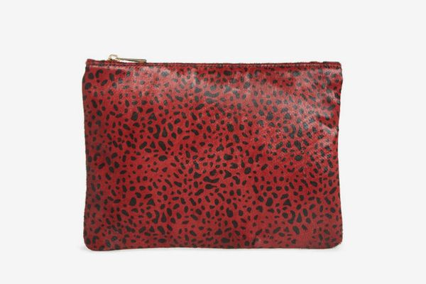 Sole Society Dolce Genuine Calf Hair Clutch