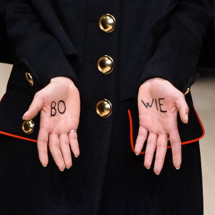 Burberry's London menswear show.