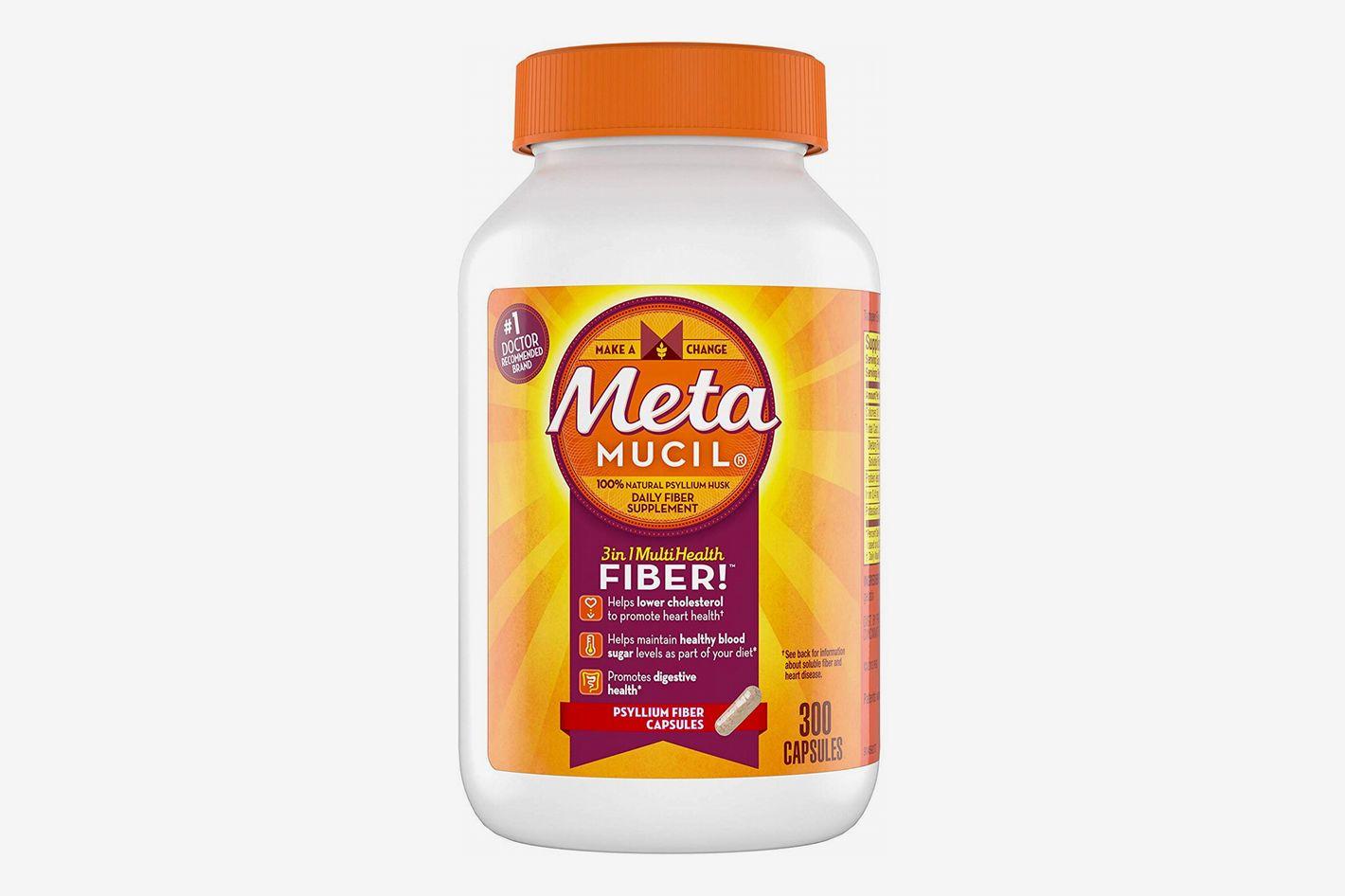 Metamucil Multi-Health Psyllium Fiber Supplement Capsules