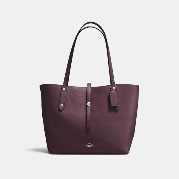maroon coach market tote - strategist coach bags half off