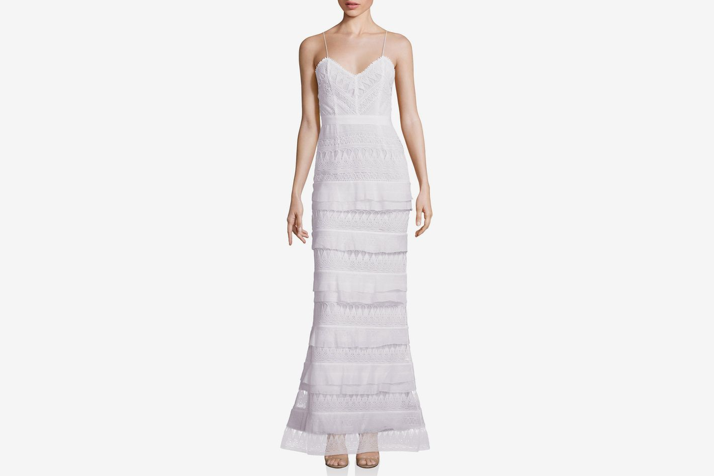 Self-Portrait Penelope Tiered Lace Gown