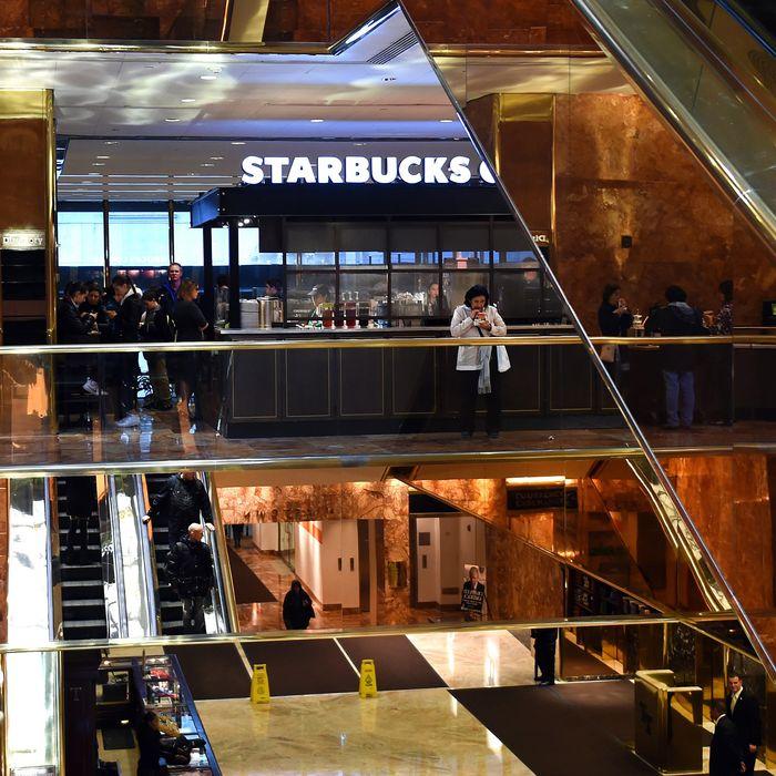 Make Trump Tower Starbucks-Less again.