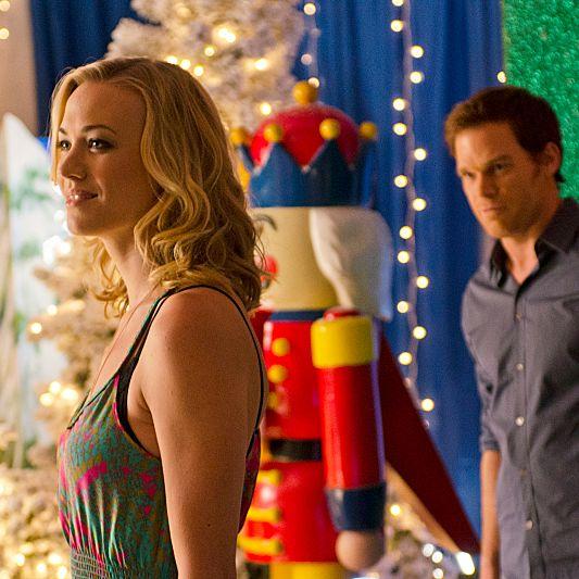 Yvonne Strahovski as Hannah McKay and Michael C. Hall as Dexter Morgan (Season 7, episode 6).