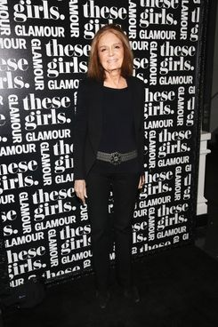 "Journalist Gloria Steinem attends Glamour's presentation of ""These Girls"" at Joe's Pub on May 20, 2013 in New York City."
